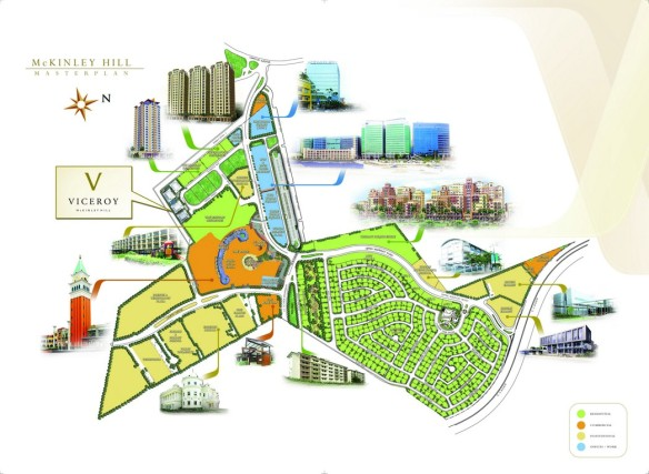 Mckinley Hill, Bonifacio Global City, Masterplan for Viceroy Residences